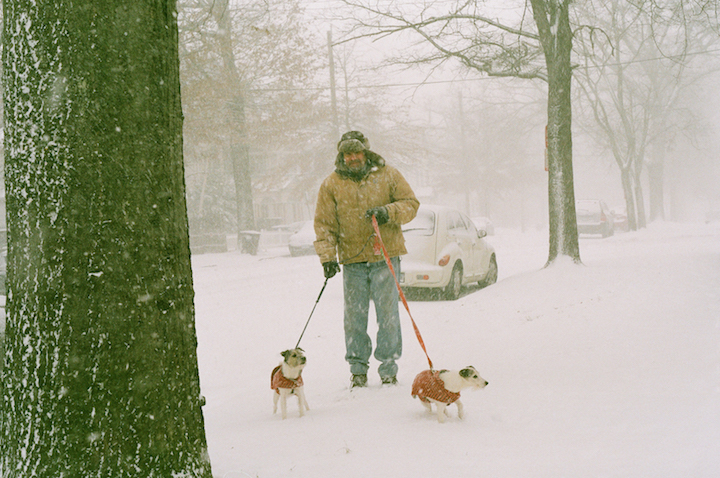 "The ""guy"" with his two dogs. Monica Bunton Photo."