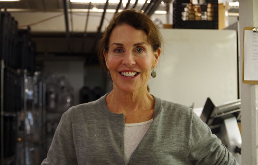 Laua Hurwitz, in Koffee?'s commercial kitchen on East Street. Lucy Gellman Photos.
