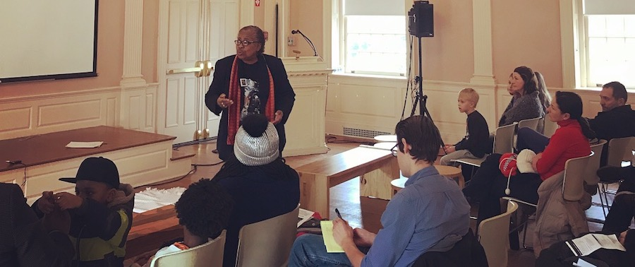 """Joy Donaldson: """"What were my people given? A form of Christianity—not true Christianity as we know it today."""" New Haven Museum Photo."""