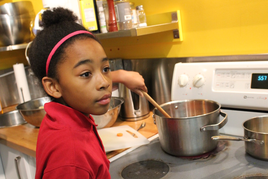 Nelson's daughter Soleil ensures the next generation of master chefs. Lucy Gellman Photo.