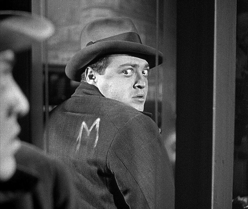 Hans Beckert (Peter Lorre) in Fritz Lang's 1931 crime thriller  M .