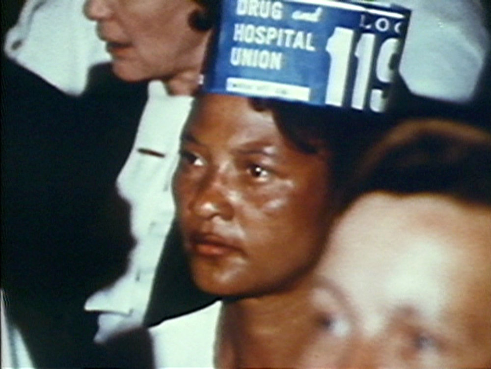 Still from Madeline Anderson's 1970 documentary I AM SOMEBODY.