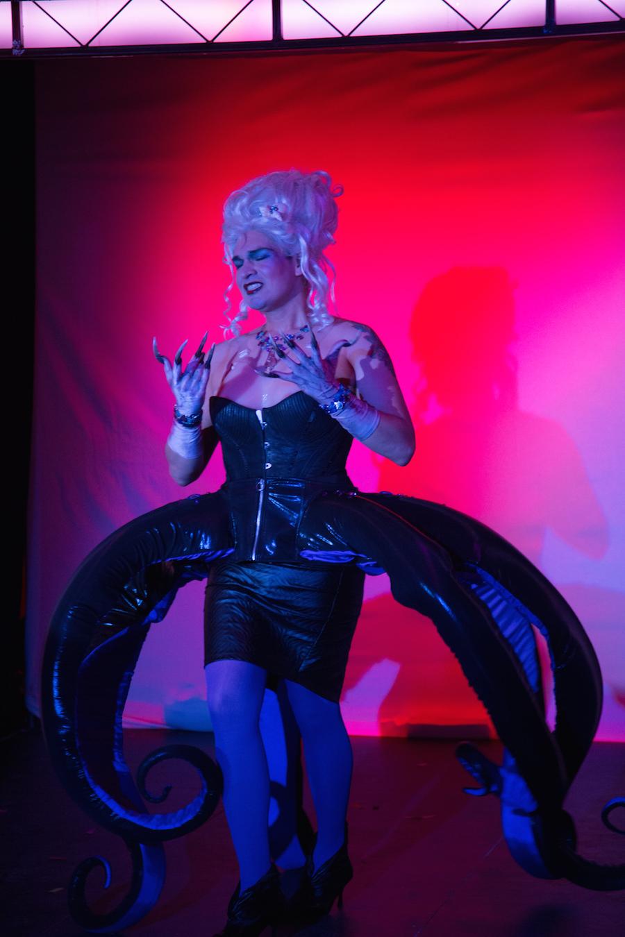 Fabian Aguilar as Ursula in 2015. Christopher Thompson Photo, Courtesy Yale Cabaret.