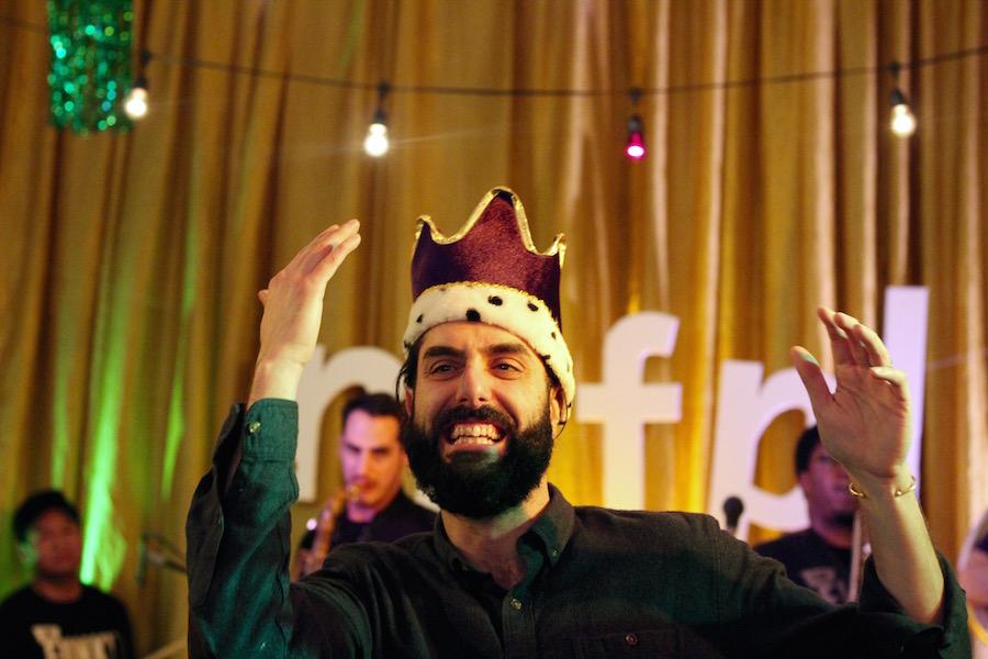 Westvillian Travis Carbonella, or King of Mardi Gras 2018? Lucy Gellman Photos.