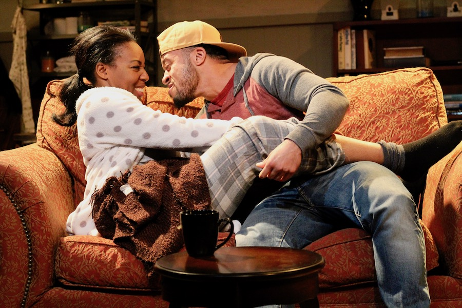 Tamika Pettway as Nina and Kingston Farady as Damon.