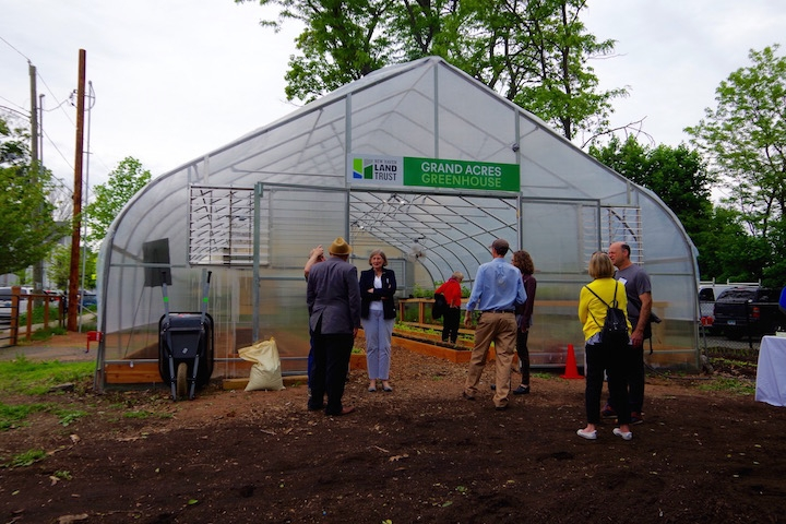 The greenhouse at Grand Acres where Lopez began her sofrito expedition. Lucy Gellman File Photo.