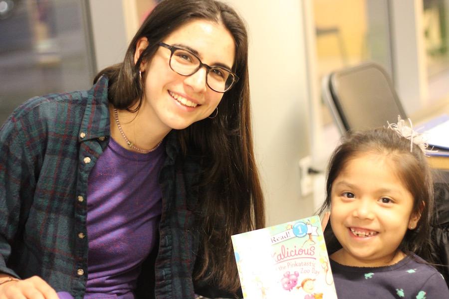 Tutor Momo Chapa and NHR student Alexandra Romero-Rodriguez. Lucy Gellman Photos.