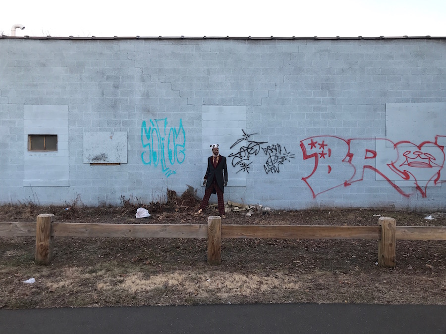 Adae at the site earlier this year. Photo courtesy of the artist.