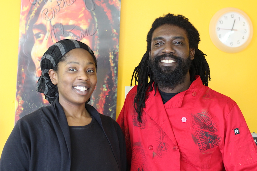 Qulen Wright and Elisha Hazel at their restaurant, which will celebrate its second birthday later this year.