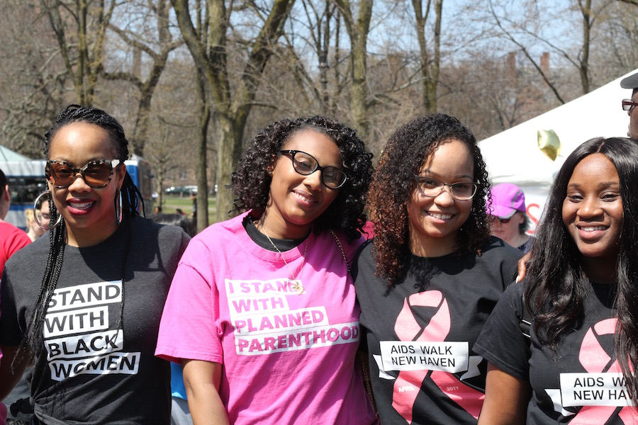 "Walkers included a team from Planned Parenthood of Southern New England, members proudly sporting ""I Stand With Black Women"" and PPSNE shirts."