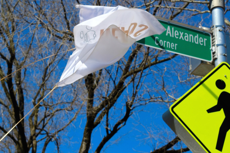 Seven years after Christine Alexander's death—and two after New Haven Reads brought the initial request to the city's Board of Alders—the corner of Bristol and Ashmun Streets has been officially christened Christine Alexander Corner. Lucy Gellman Photos.