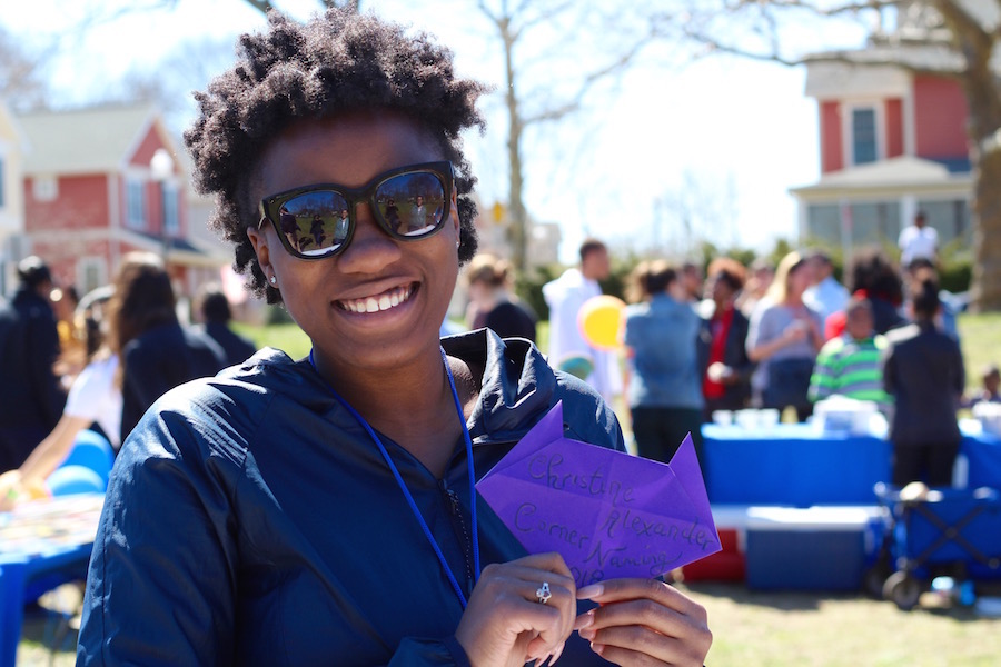 "NHR Development Assistant Raquasia Smith, a New York transplant who began at the organization as an intern last year. ""I had trouble reading when I was a kid, and I wish my little cousins lived in Connecticut so they could have this now,"" she said."