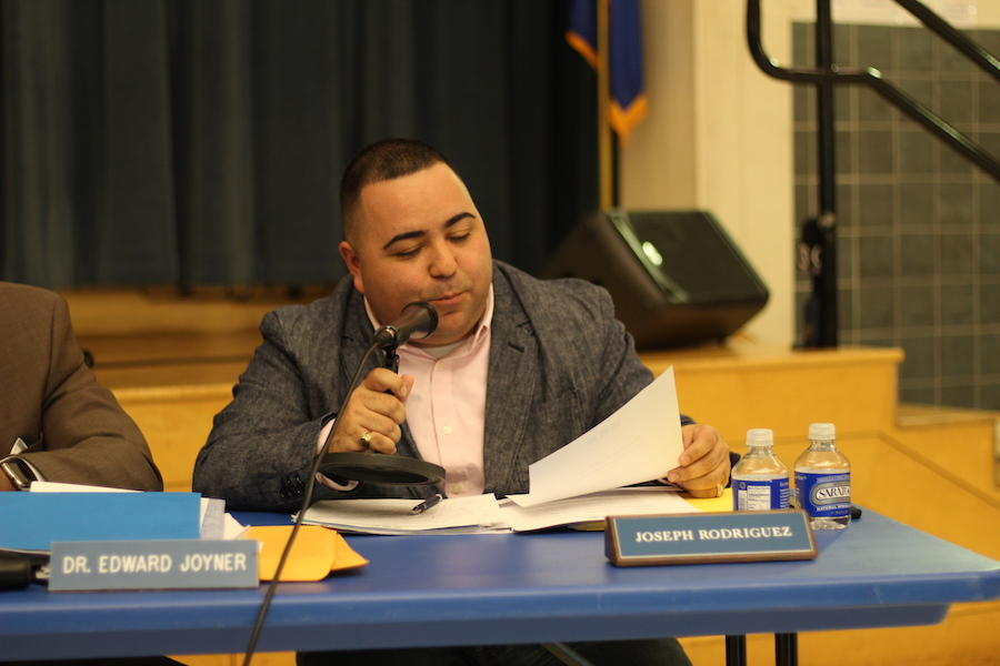 """In recent months the Board has received ongoing concerns from parents and students. Members, myself included, have received comments ranging from the quality, quantity, nutritious value, to name a few,"" Rodriguez wrote in an email before the meeting. ""While the district has taken steps forward through past surveys and initiatives, we feel that it is time to reexamine and review."" Christopher Peak Photo."