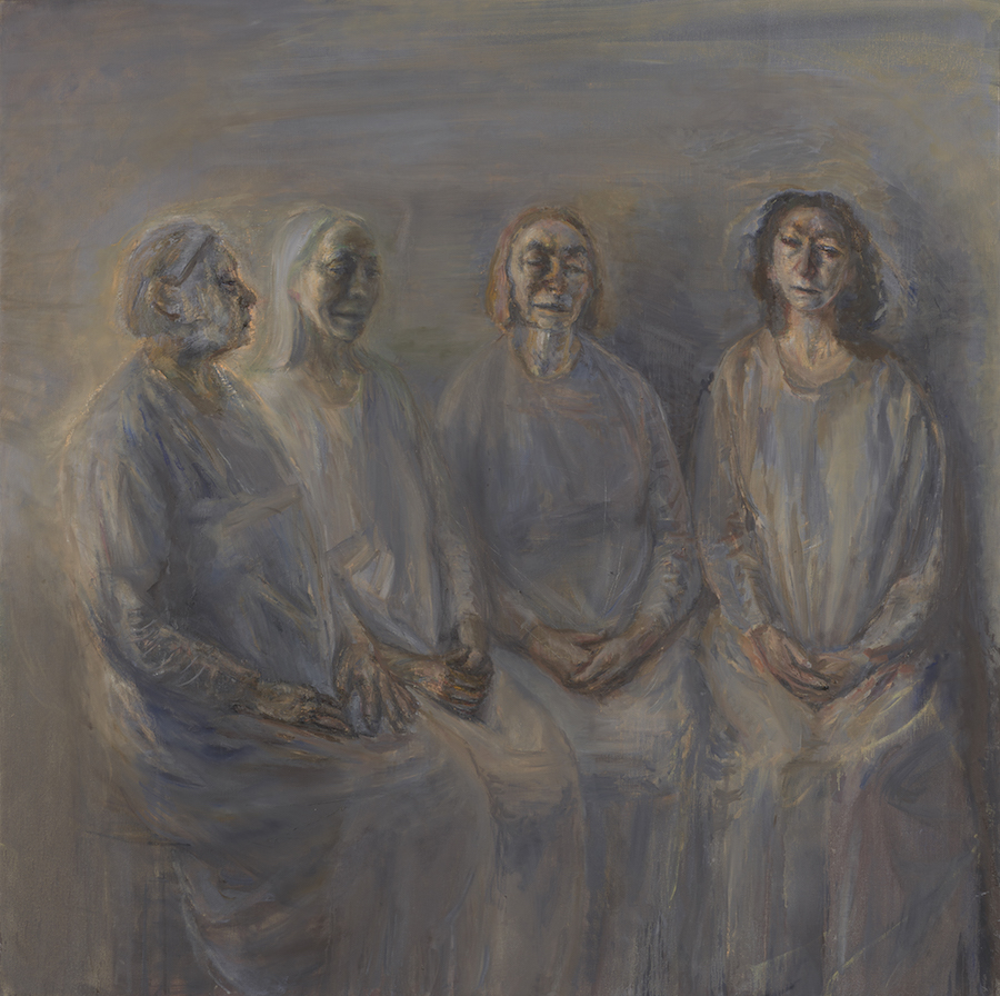 Celia Paul,  My Sisters in Mourning , 2015-16. Image courtesy Yale Center for British Art.