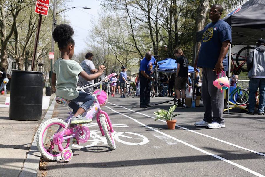 An off-duty officer gets some much-needed dad time as his daughter perfects the art of biking with training wheels.