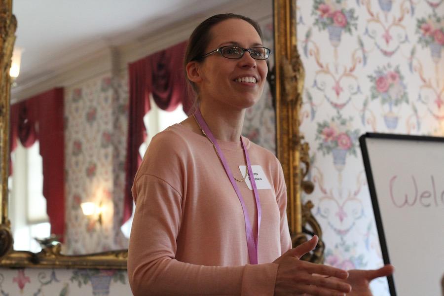 Program/class organizer Jen Fitzgerald.