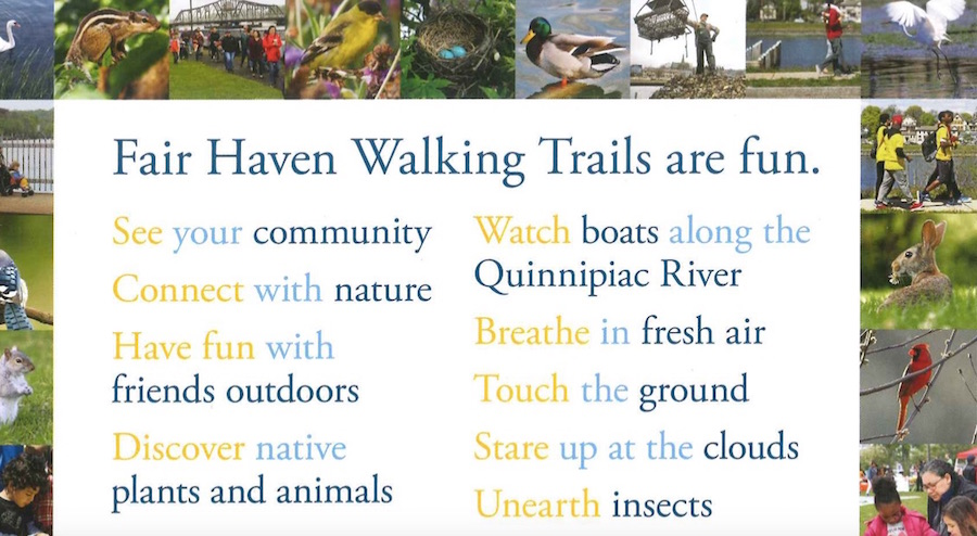 One of the postcards designed specifically for students, giving them suggestions for the trail. Courtesy CSNA.