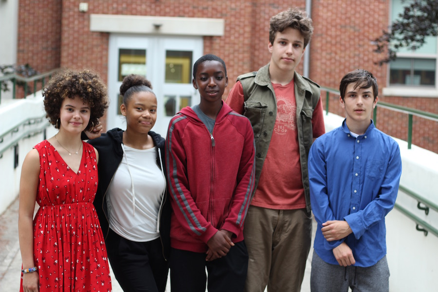 From left to right: Amélie Corazzini, Alyssa Eichler, Espoir Irumva, Cody Coon, and Olivier Clinard.
