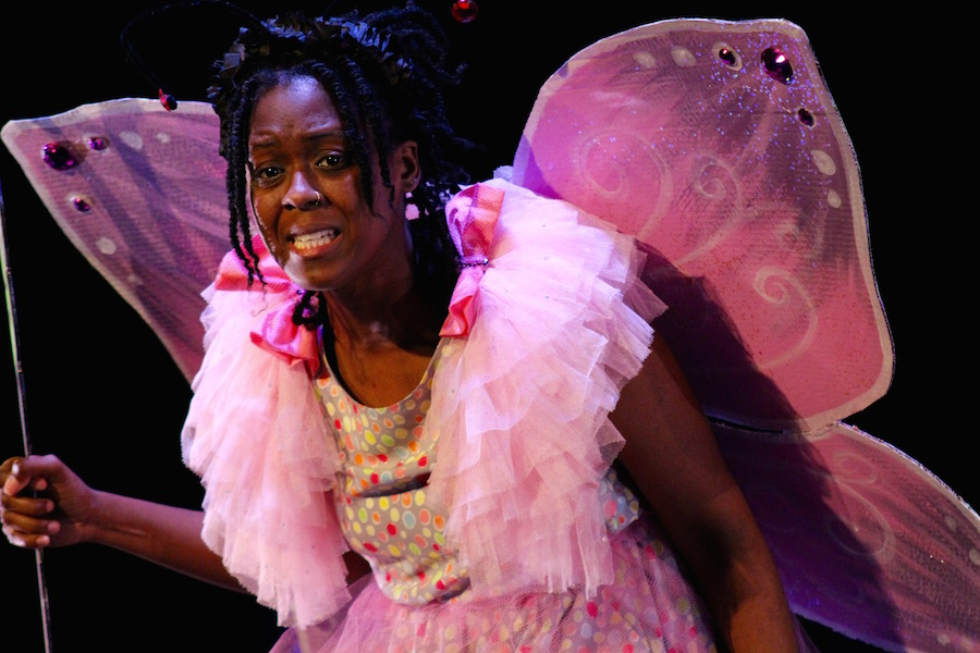 Moses Ingram as Ellei the Butterfly, a character in Allison Miranda's  Lost Siblings . Lucy Gellman Photo.