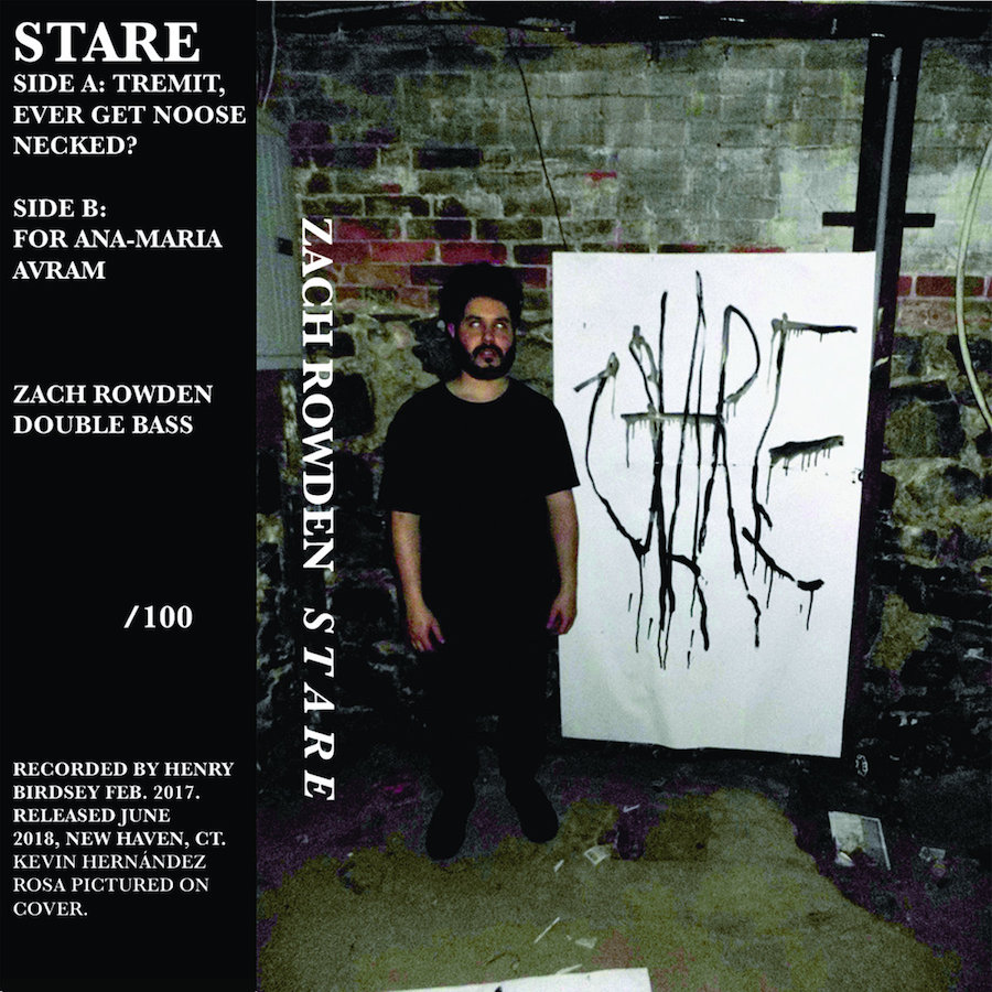 The cover of  Stare . Courtesy Zach Rowden.