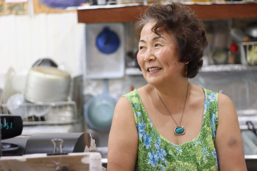 Yoon-ock Kim, owner of Oriental Pantry on Orange Street, never intended to stay in New Haven. But she's now run the shop for over two decades.