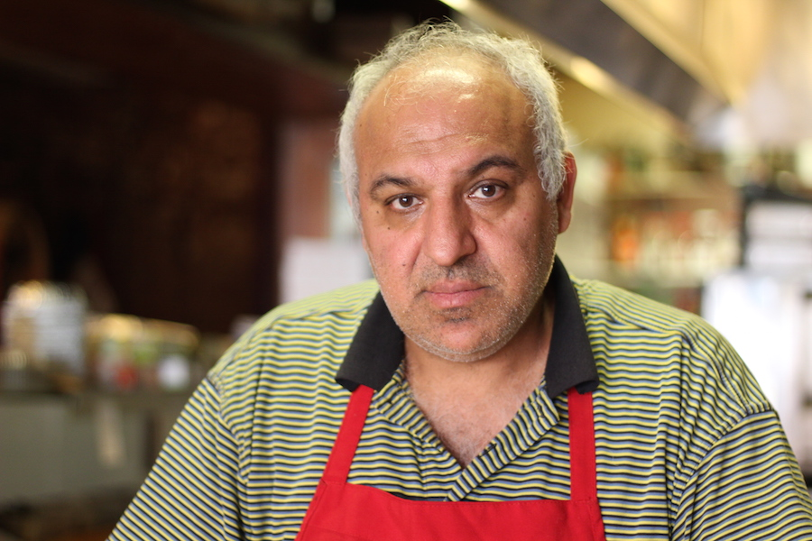 "Omar Rajeh, who owns and runs Mediterranea restaurant on Orange Street, immigrated from Syria in 1989. He called President Donald Trump's most recent travel ban ""a disaster"" when asked his thoughts on it."