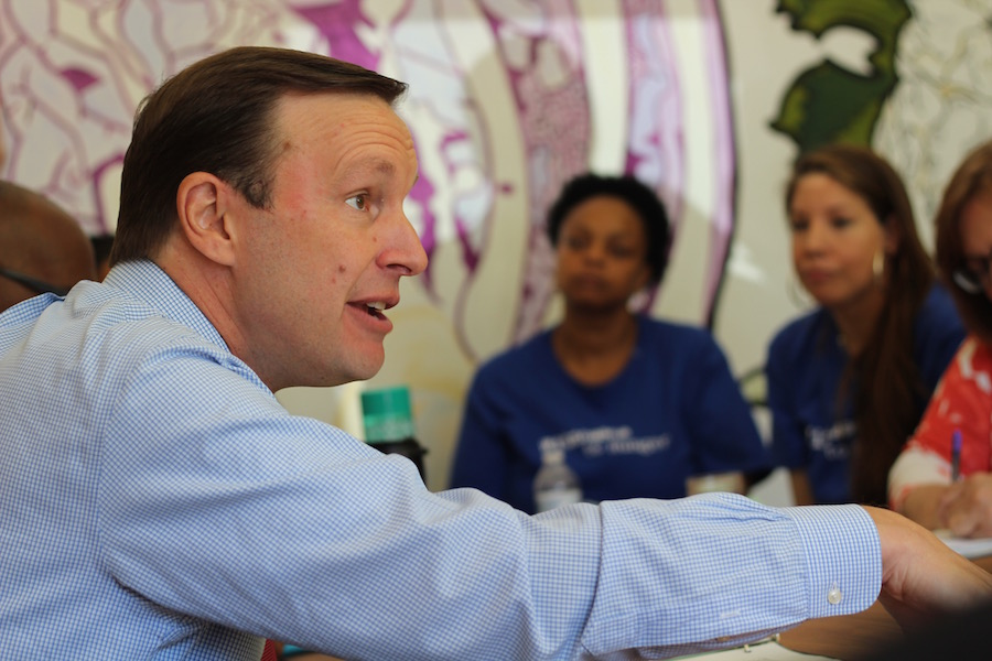 """Chris Murphy:""""We have a big fight ahead of us."""" Lucy Gellman Photos."""