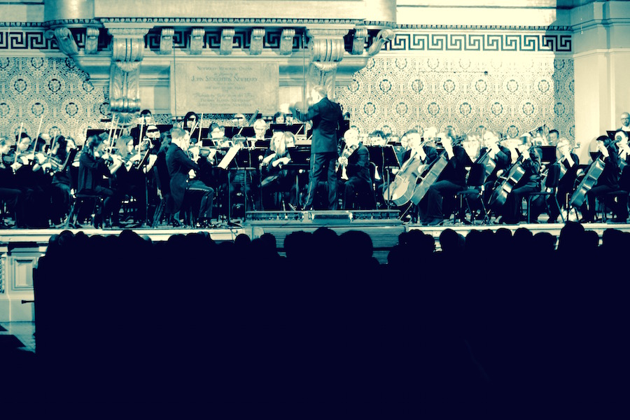 Neale conducting the NHSO earlier this year.