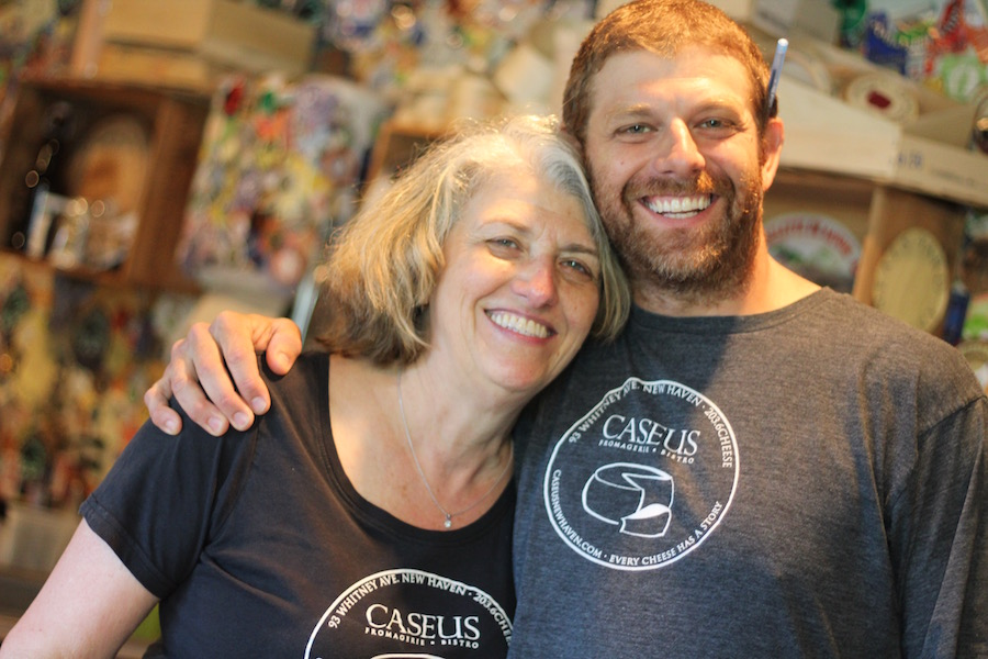 "Sylvia and Jason Sobocinski in the cheese shop. ""Lots of people loved what was going on here, but I'm, like, so excited that we're going to do something new and that I get to bring on partners and still keep the same staff,"" Sobocinski said earlier this week. Lucy Gellman Photo."