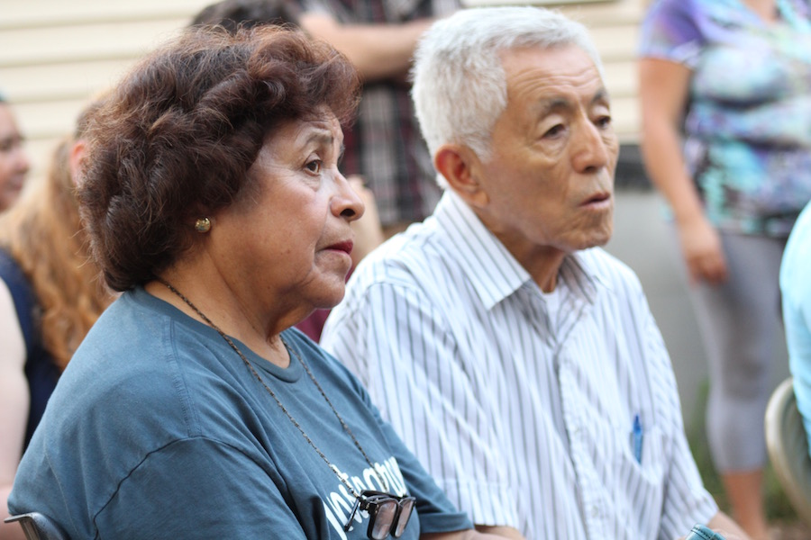 Salome Camacho and her husband, Rafael Ito.