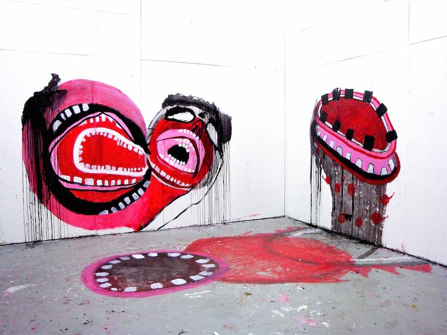 An untitled acrylic wall painting by Antonak.Erin Lee Antonak Photo.