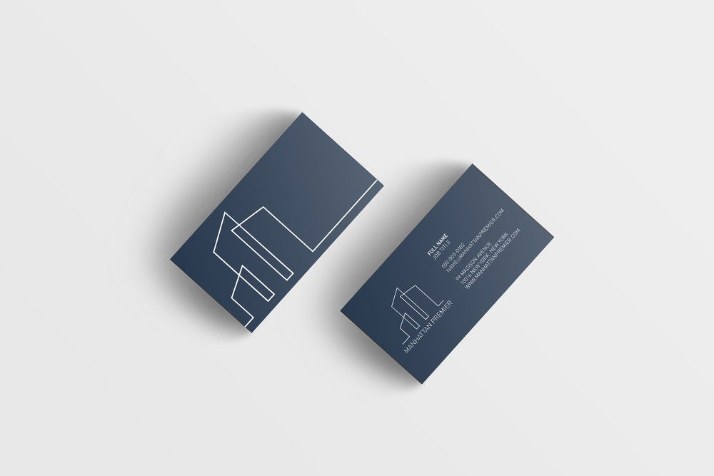 Visual Identity, Print Design and Web Development for Construction Company Manhattan Premier  Year: 2018   www.manhattanpremier.com