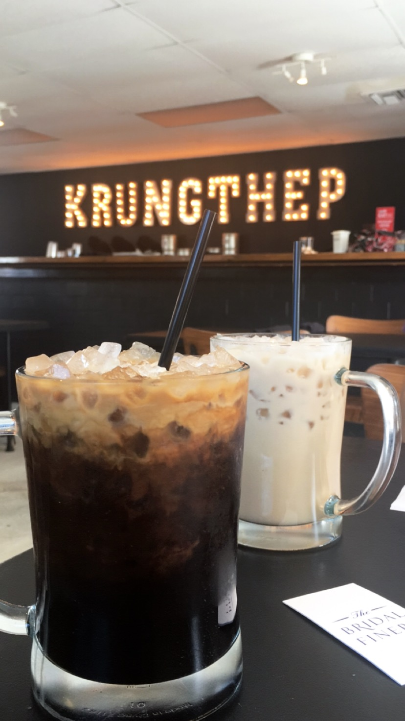 Krungthep - Krungthep (means Bangkok)is located off of Fairbanks and features Thai coffees, teas, and sandwiches.Earlier this year I had the opportunity to travel to Bangkok so I enjoyed reminiscing with these flavors. We returned here a week later to enjoy more bites!