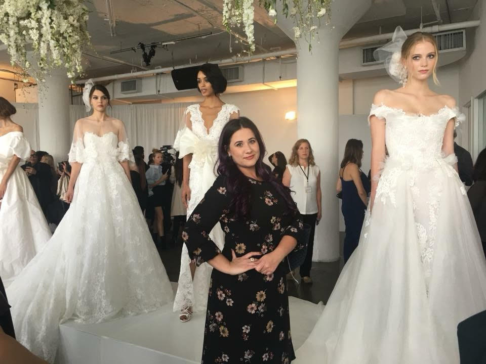 Roberta at the marchesa bridal fashoin presentation during ny bridal fashion week