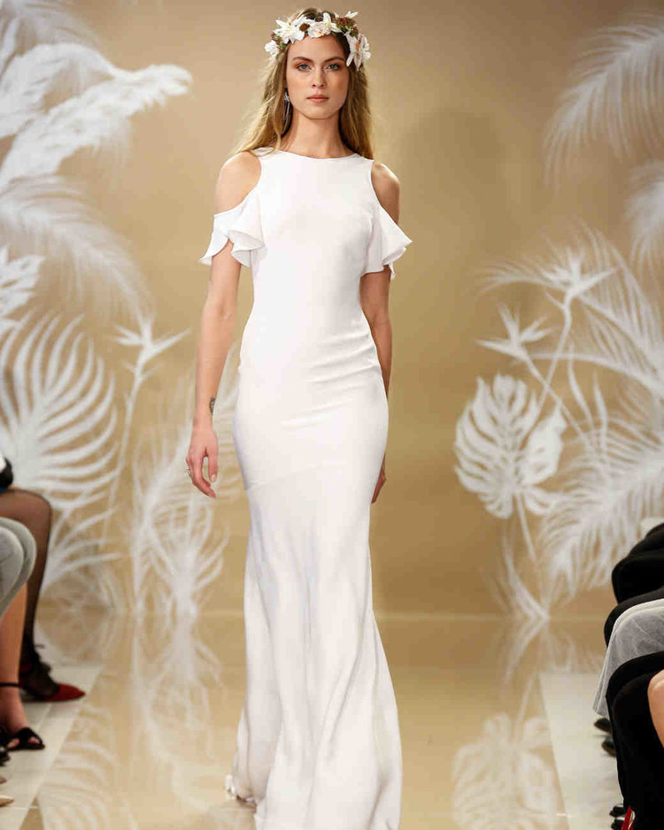 Wedding dresses theia wedding dress fitted with off the shoulder detail junglespirit Choice Image
