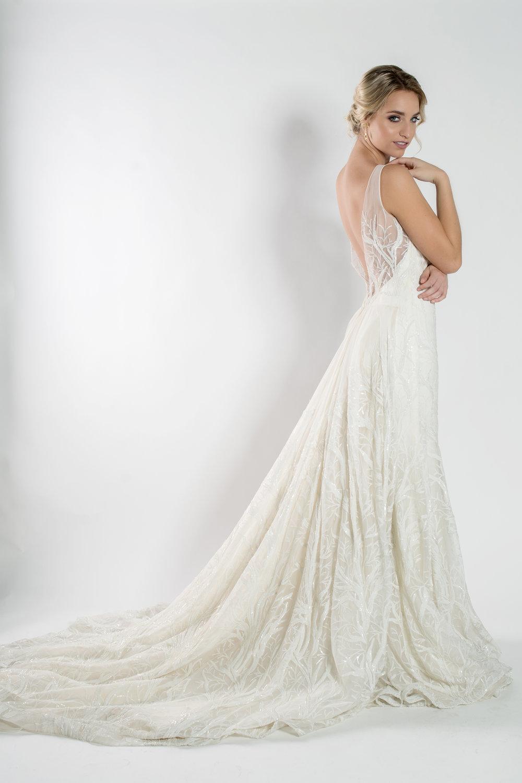 Beaded ivory wedding dress the bridal finery orlando, Florida