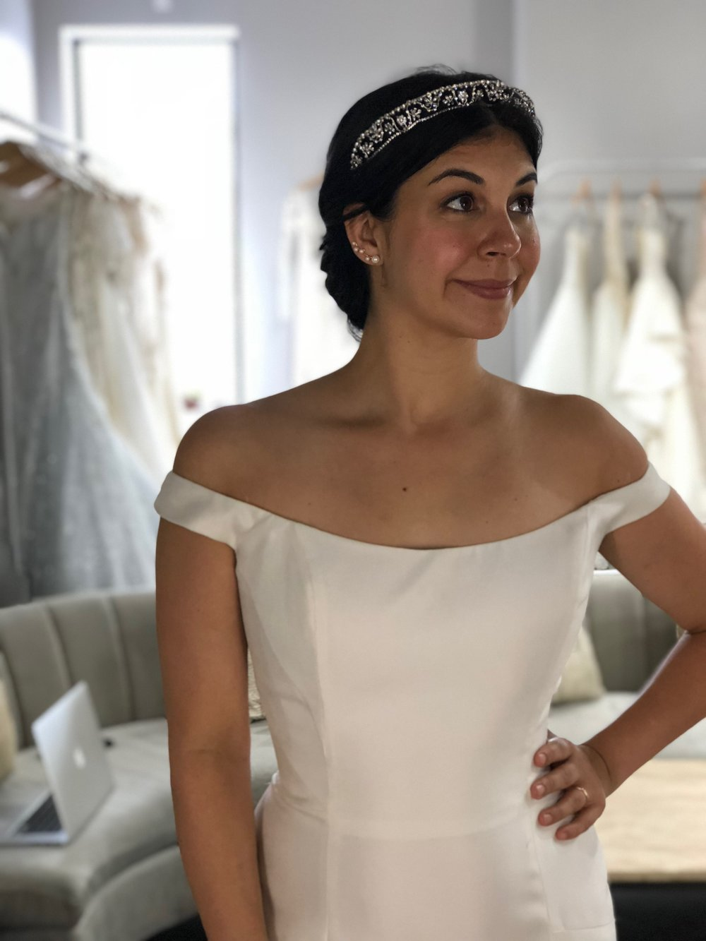 Tiara from The Bridal Finery resembling Meghan Markle's wedding day tiara