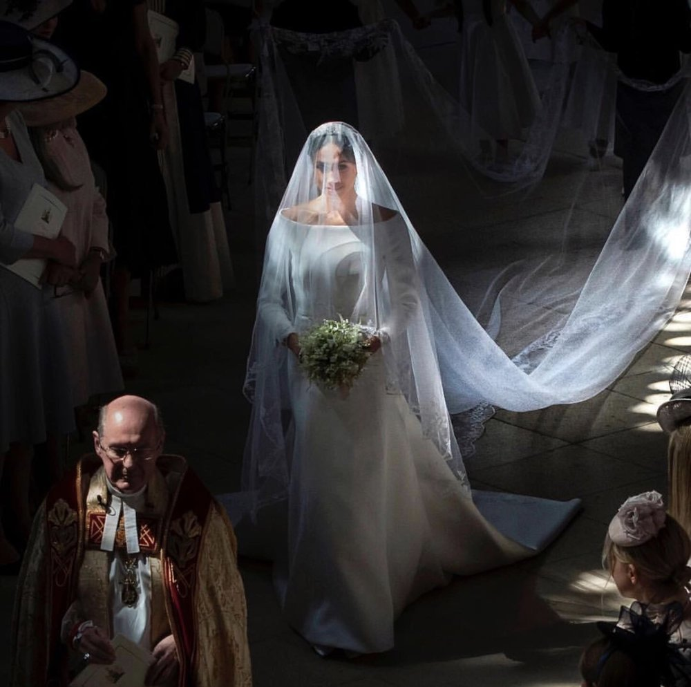 Meghan Markel's wedding dress signed by Givenchy