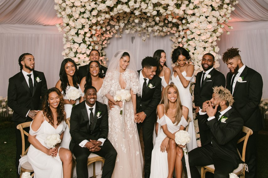 Beverly Hills Spring Wedding with celebrity bride