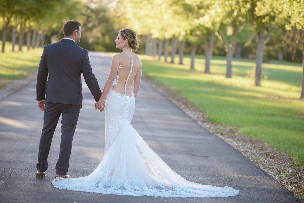 Real bride wearing Ines Di Santo wedding dress from Orlando bridal shop The Bridal Finery