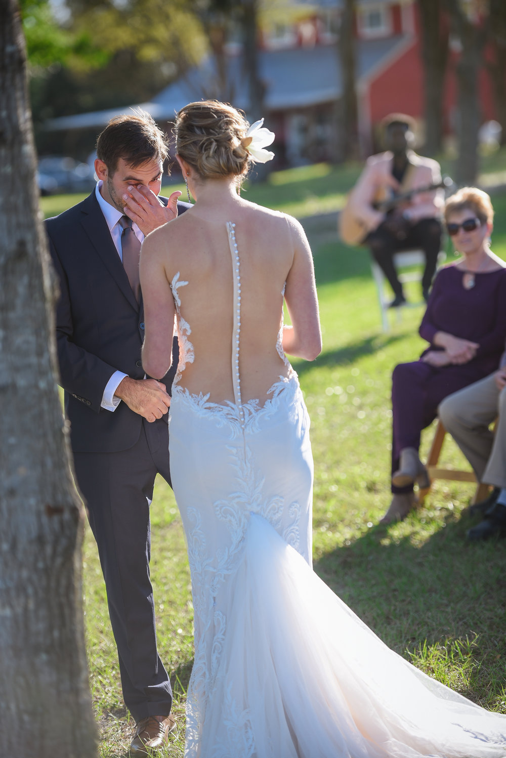 Low back lace wedding dress by Ines Di Santo