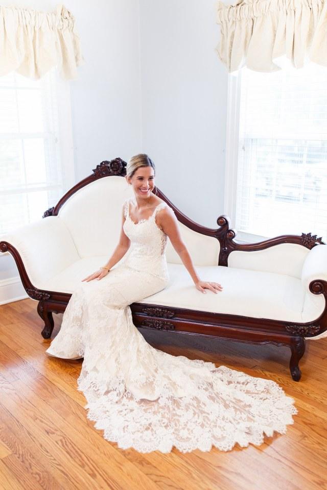 Bride wearing Ines Di Santo at historic house in Orlando, FL