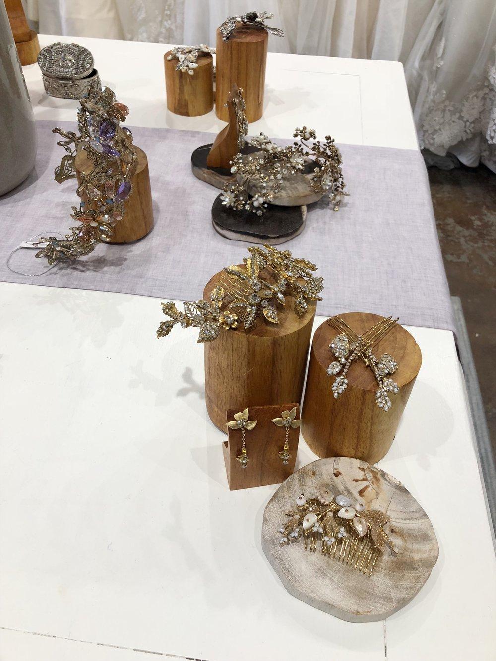 maria elena headpieces orlando bridal boutique winter park bridal shop gold accessories