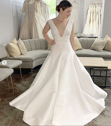 A line wedding gown reem acra wedding gown orlando dresses