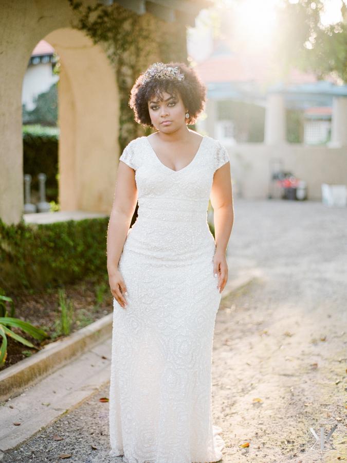 theia bridal curvy bride plus size model natural hair