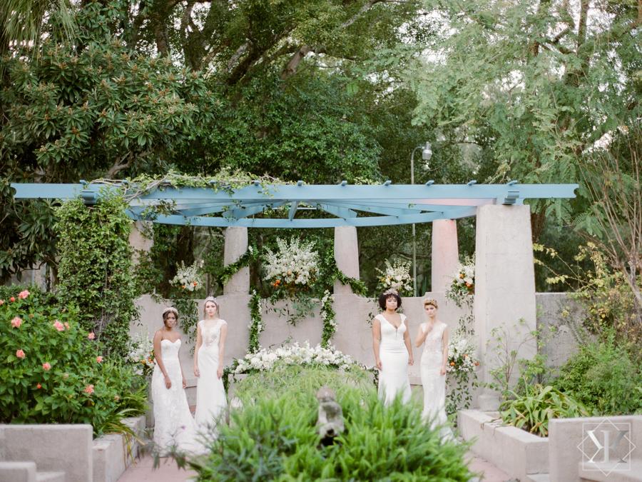 models orlando wedding vendors white gown ines di santo mira zwillinger