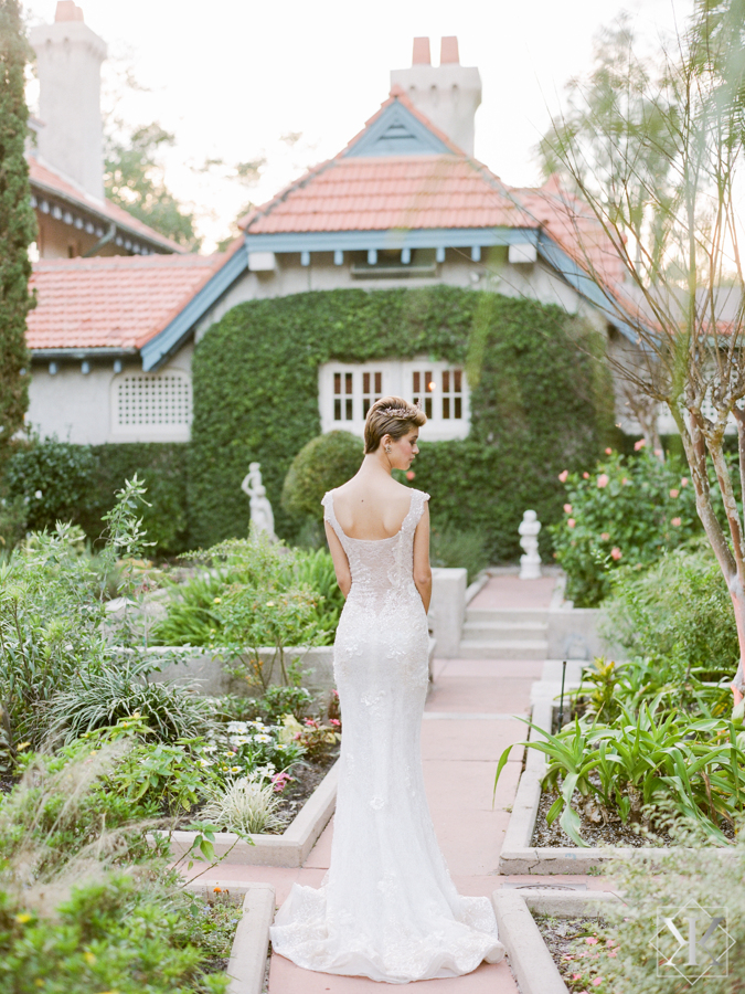 low back wedding gown ines di santo gown fit and flair gown