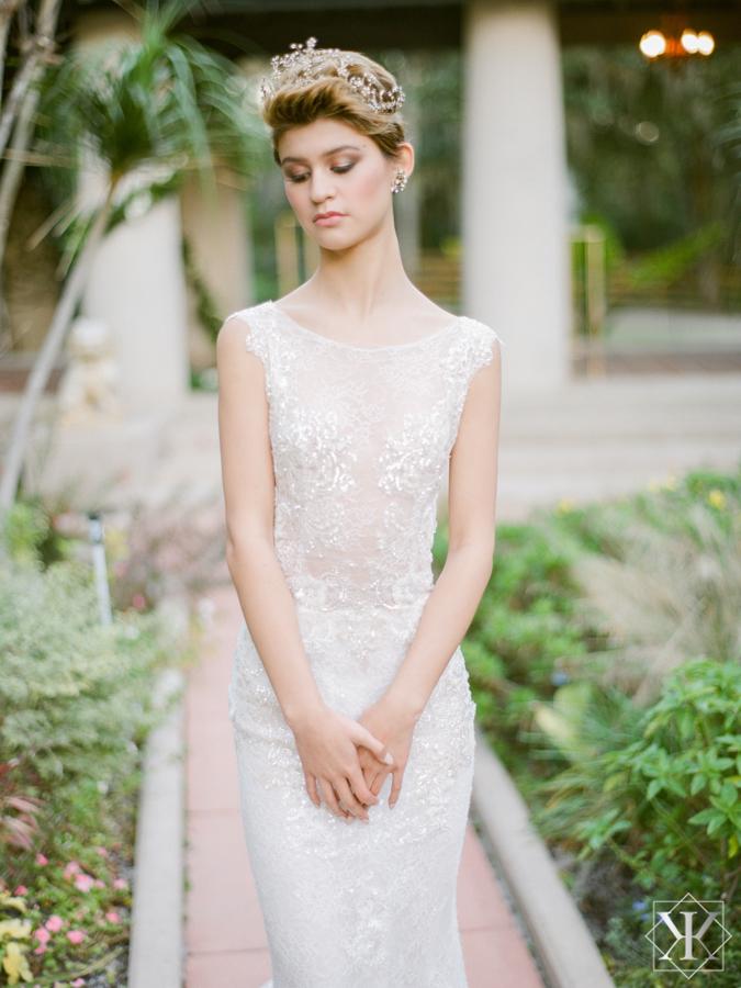 ines di santo gown alonda gown high neckline wedding gown