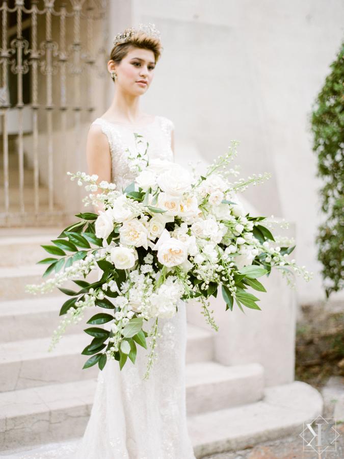 raining roses bouquet white bouquet large wedding bouquet