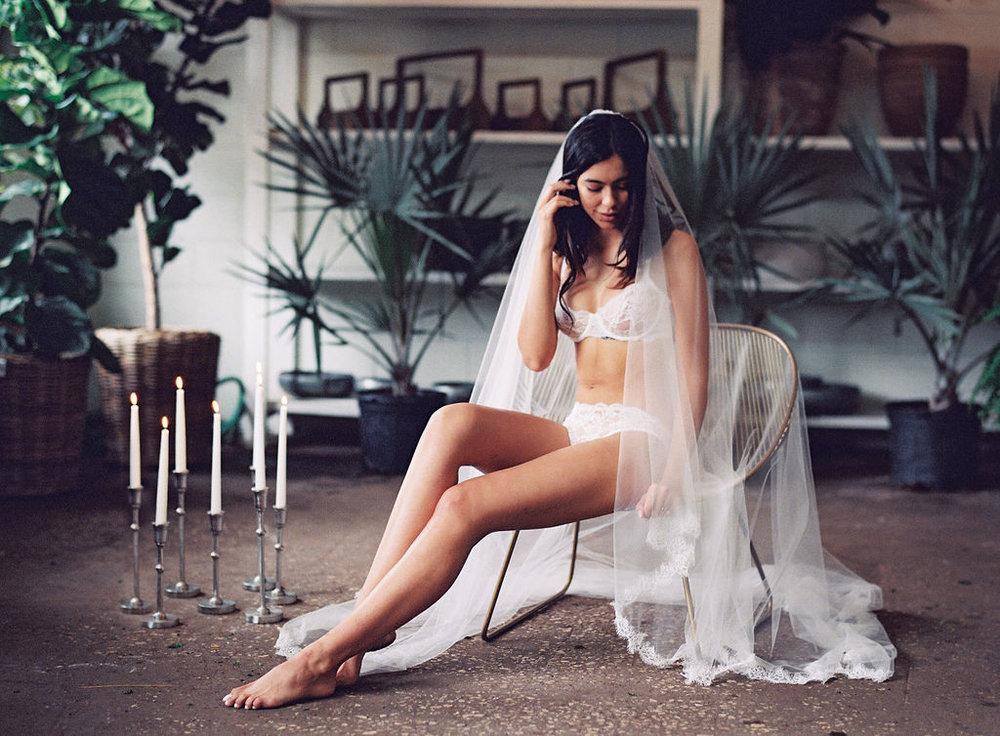 Bridal boudoir lace lingerie honeymoon attire